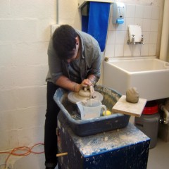 Aaron Chvers at work - Cardiff Ceramics