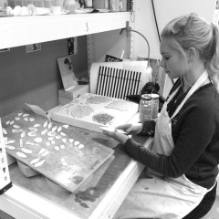 Rhiannon Evans at work - Cardiff Ceramics