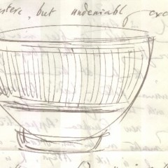YORYM : 2004.1.509 - Michael Cardew, sketch of Earthenware bowl (1970).