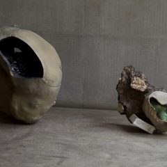 Abstract sculptural ceramics by Istvan Szabo