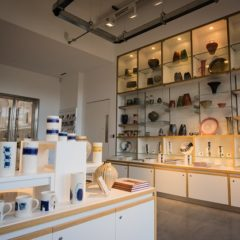 Interior of shop selling ceramics