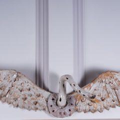 Ann Stokes - White Wall Mounted Swan - YORAG_2017_2-1
