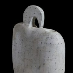 White abstract ceramic sculpture